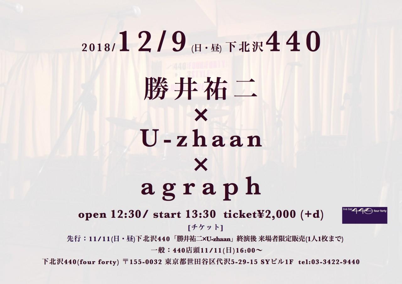 「勝井祐二 × U-zhaan × agraph」