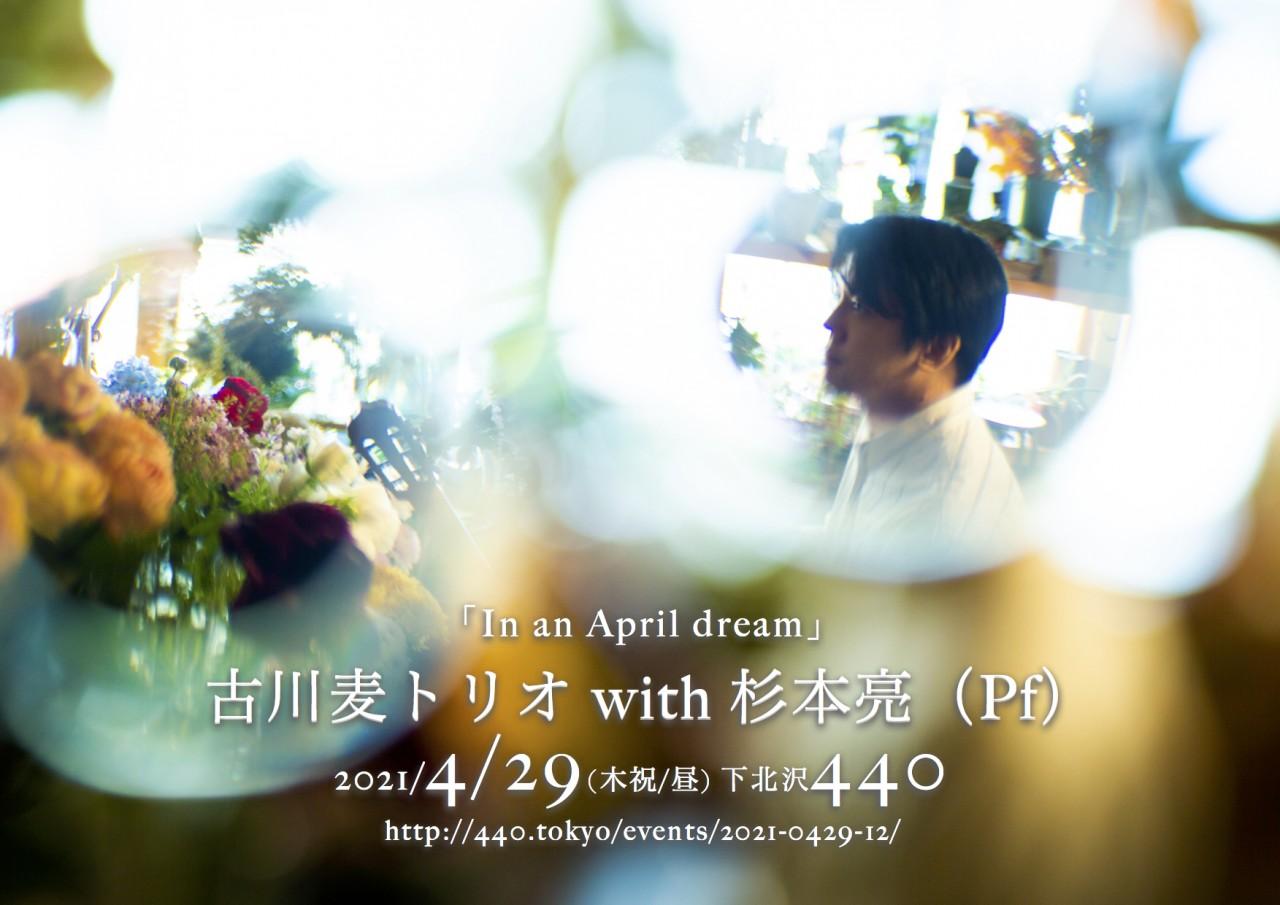 【来場 生配信】古川麦トリオ with 杉本亮(Pf)「In an April dream」